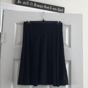 flirty and light black skirt